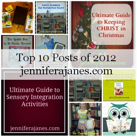 Top Ten Posts of 2012 - jenniferajanes.com
