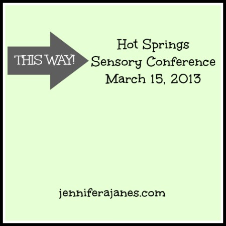 Hot Springs, AR, Sensory Conference