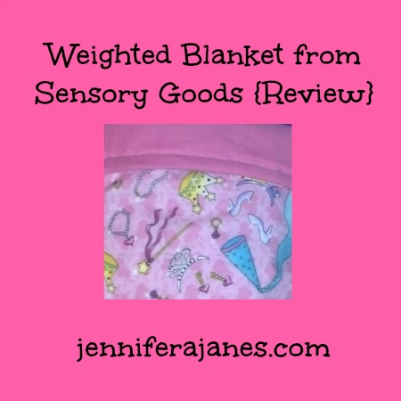Weighted Blanket from Sensory Goods {Review} - jenniferajanes.com