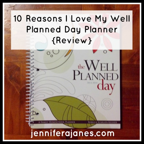Well Planned Day Planner Review - jenniferajanes.com