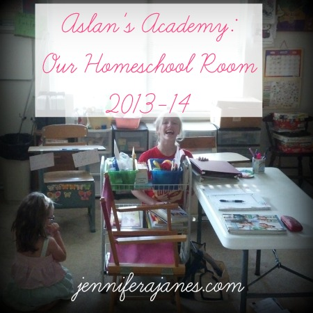 Aslan's Academy: Our Homeschool Room 2013-14 - jenniferajanes.com