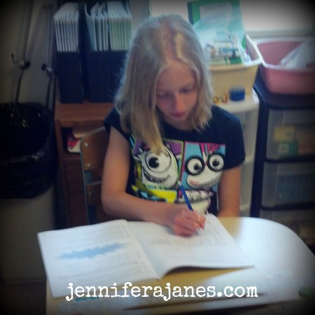 BookGirl's first day of 5th grade - jenniferajanes.com