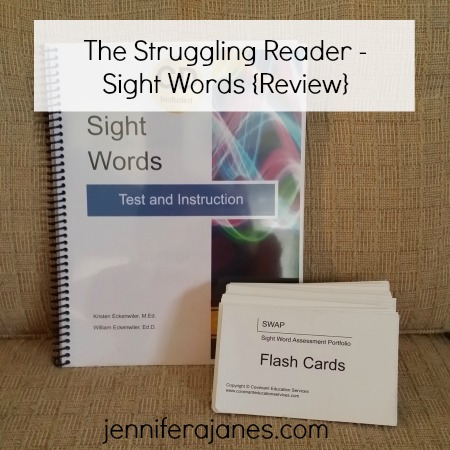 The Struggling Reader - Sight Words {Review} - jenniferajanes.com