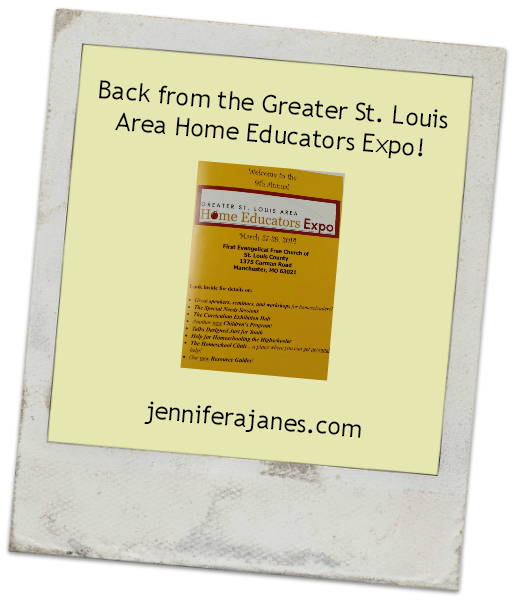 Back from the Greater St. Louis Area Home Educators Expo - jenniferajanes.com