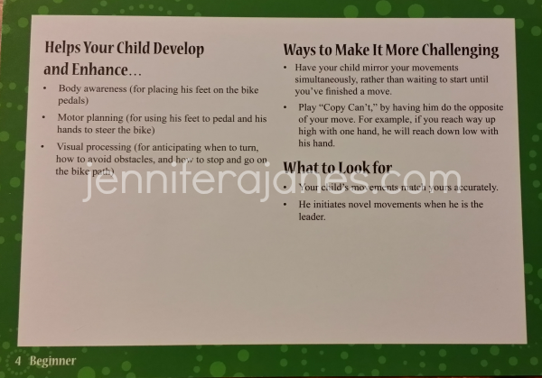 Additional information - In-Sync Activity Cards (Beginner) - jenniferajanes.com