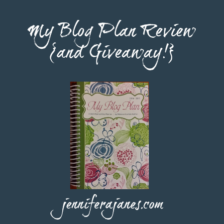 My Blog Plan Review and Giveaway - jenniferajanes.com