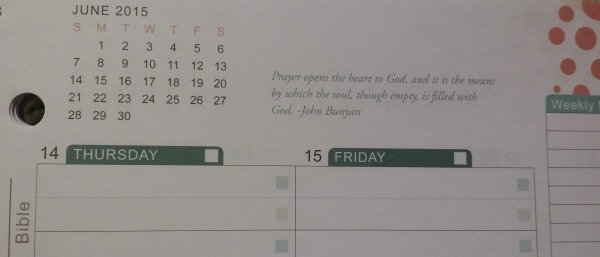Well Planned Day Weekly Quote
