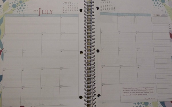 Well Planned Day Monthly Calendar