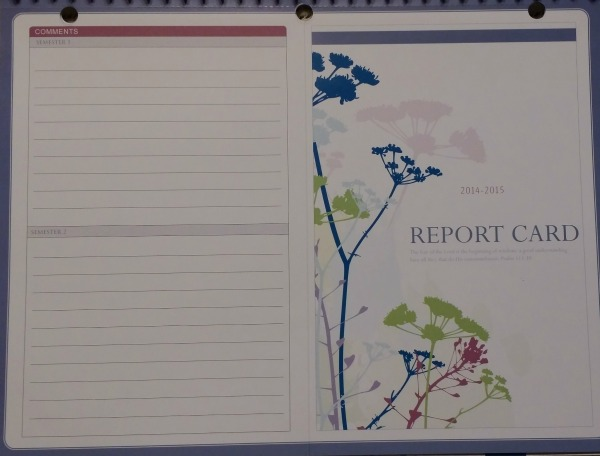 Well Planned Day Report Card
