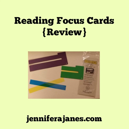 Reading Focus Cards {Review} - jenniferajanes.com