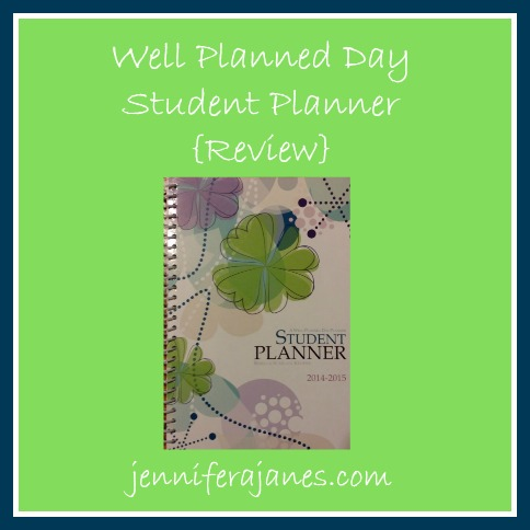 Well Planned Day Student Planner {Review} - jenniferajanes.com