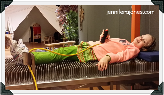 At a science museum - bed of nails - jenniferajanes.com
