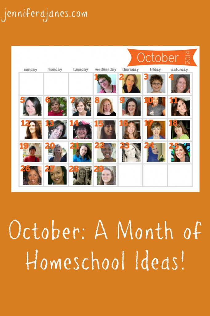 October: A Month of Homeschool Ideas! - jenniferajanes.com