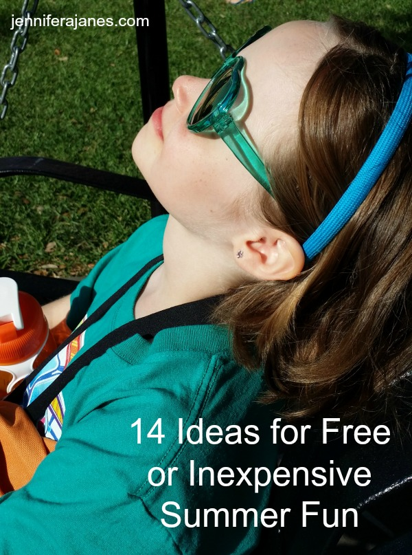 14 Ideas for Free or Inexpensive Summer Fun - Want to make memories with your kids this summer? Here are 14 ideas for summer fun that won't break the bank! - jenniferajanes.com