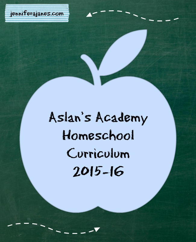 Aslan's Academy Homeschool Curriculum 2015-16