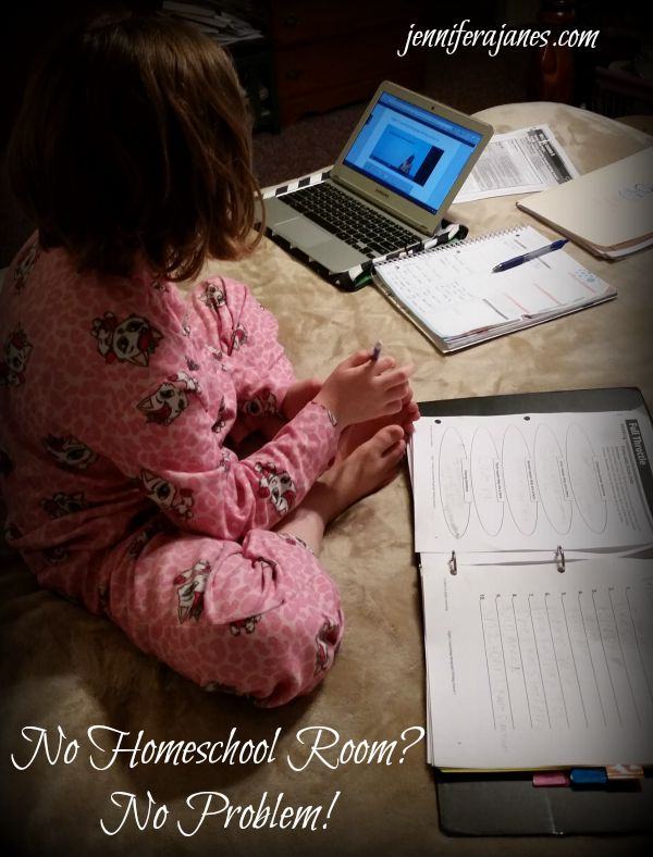 Don't feel bad for not having a dedicated homeschool room! Join me as I share how our homeschool has grown past our school room.