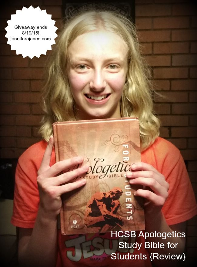 My twelve-year-old's favorite features of the HCSB Apologetics Study Bible for Students. Accompanying giveaway ends August 19, 2015 at 9:00 pm CDT.