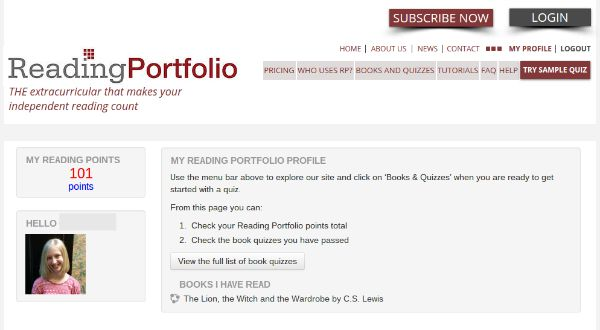 Reading Portfolio profile - jenniferajanes.com