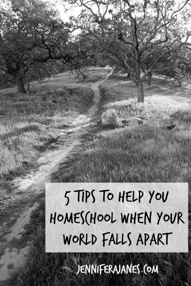 When you're committed to homeschooling but your world falls apart, what do you do? These five tips are helping my family through a difficult time.