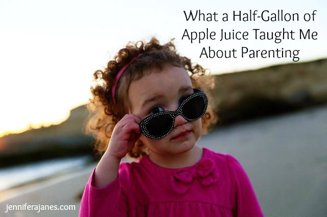 When a half-gallon of apple juice spilled all over the kitchen floor, here's what I learned about parenting.