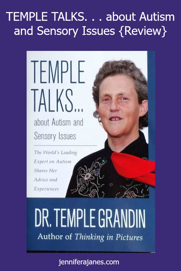 Want to read a book by Temple Grandin? TEMPLE TALKS is a great one to start with. It's short but full of information about autism and sensory issues.