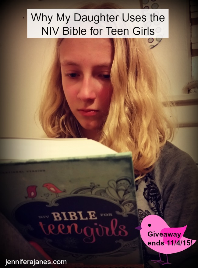 Why my pre-teen book lover likes using the NIV Bible for Teen Girls. Associated giveaway ends 11/4/15 at 9 pm CST.