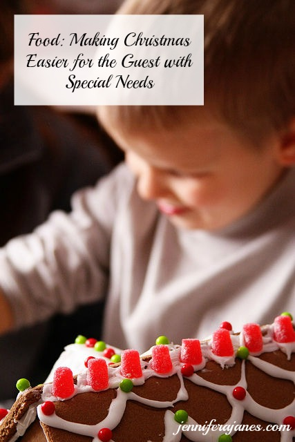 Want to make Christmas easier for a guest with special needs? Food can be a big issue. Day 2 of a 5-day series.