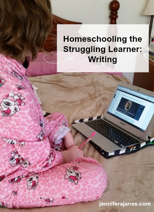 Struggling learners need writing programs that meet very specific needs. Here's my criteria for my daughter, and a program that answers each one!