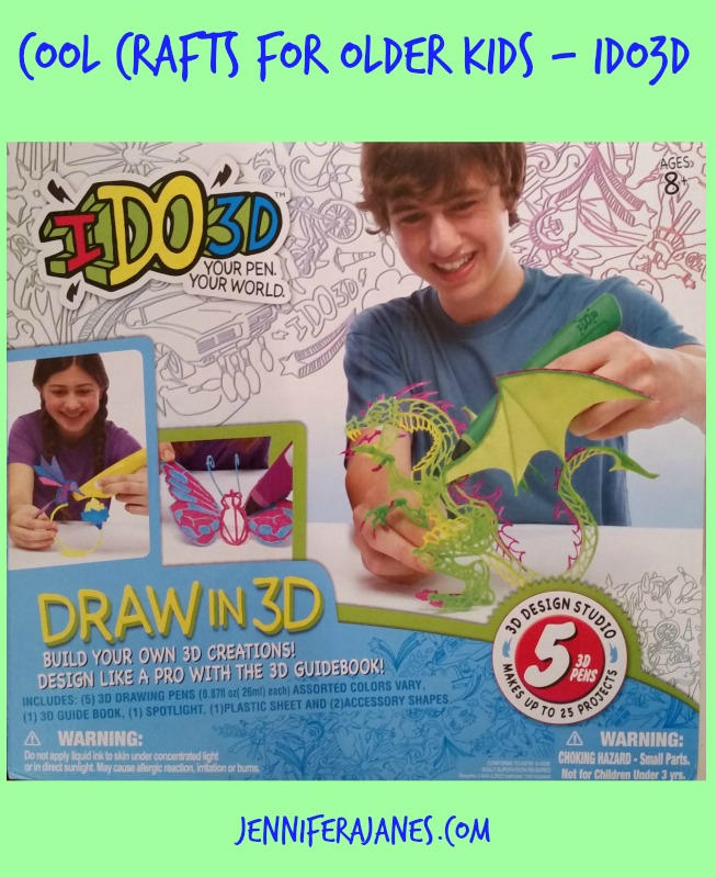 Want some crafts for older kids that even they think are cool? Try IDO3D! My family enjoyed it.