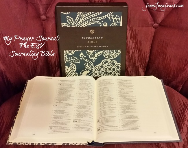 How I'm using the ESV Journaling Bible as my prayer journal. Associated giveaway ends Monday, November 16, 2015, at 9 pm CST.